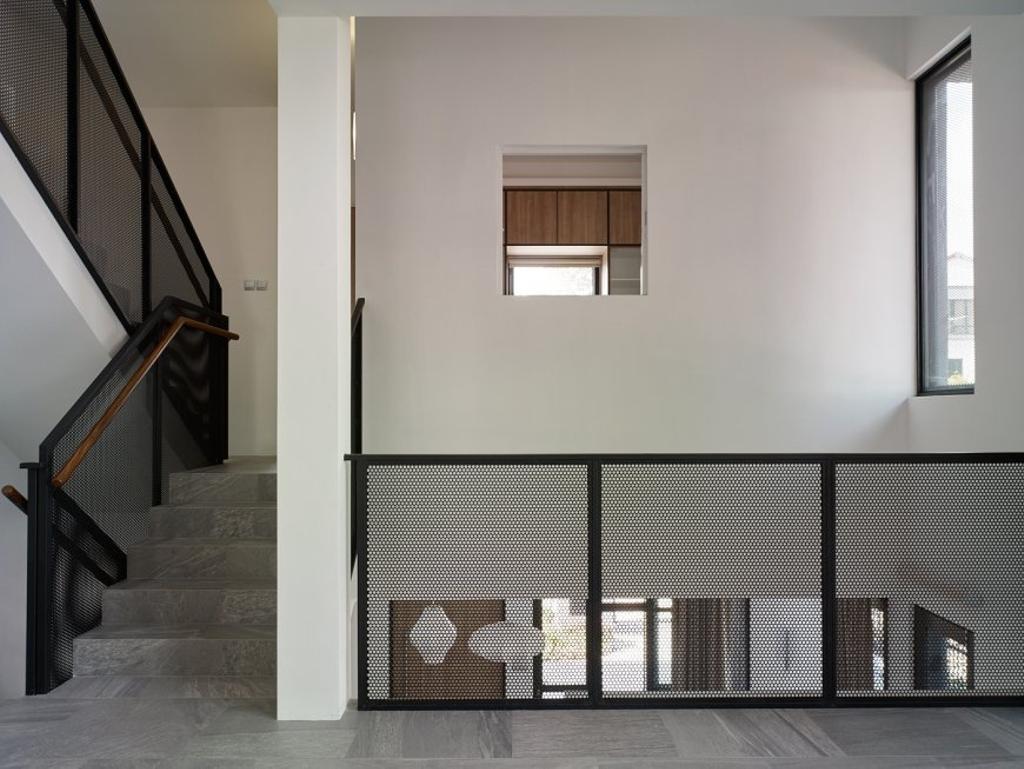 Minimalistic, Landed, House at JM, Architect, OWMF Architecture, HDB, Building, Housing, Indoors, Loft, Shelf