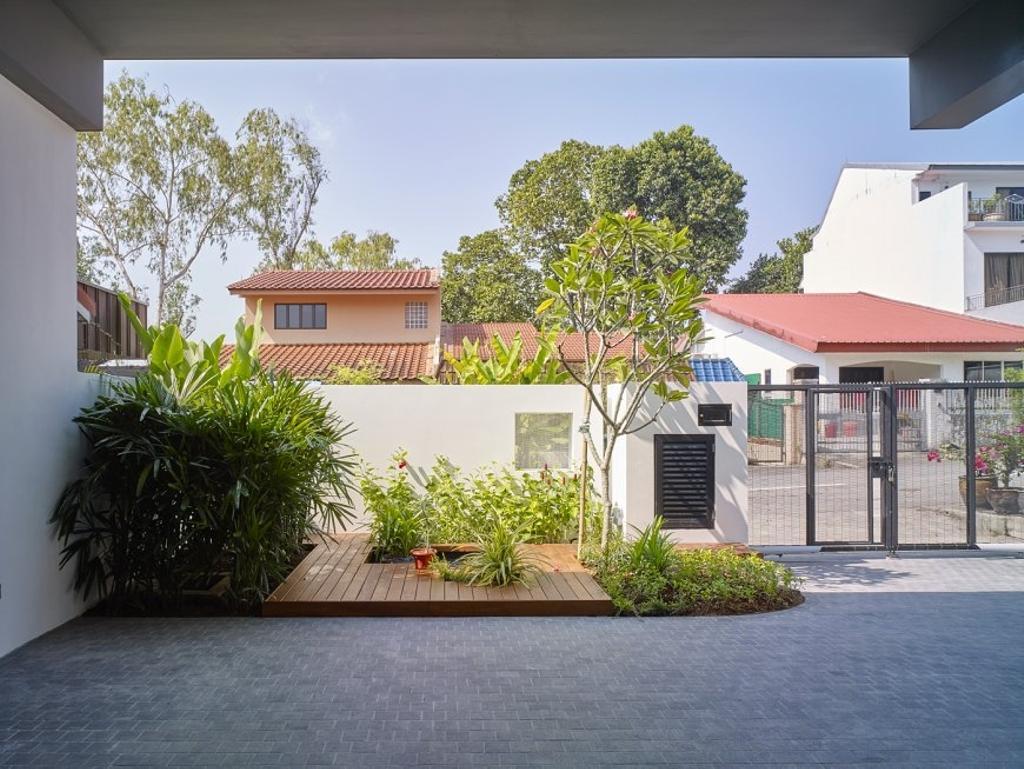 Minimalistic, Landed, House at JM, Architect, OWMF Architecture, Entrance, Building, House, Housing, Villa, Cottage