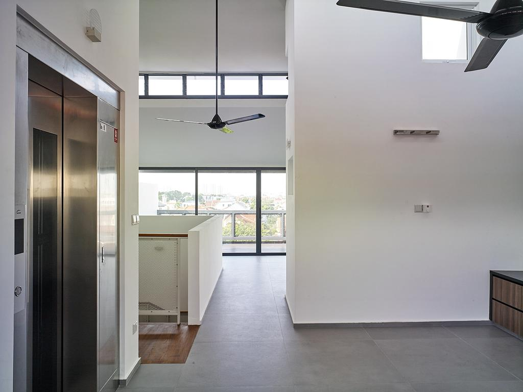 Modern, Landed, House at TS, Architect, OWMF Architecture, HDB, Building, Housing, Indoors, Loft, Flooring