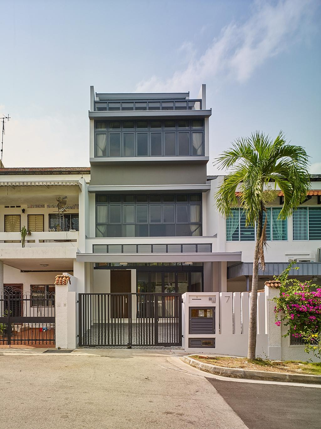 Modern, Landed, House at TS, Architect, OWMF Architecture, Arecaceae, Flora, Palm Tree, Plant, Tree, Building, Housing, House, Villa, Jar, Potted Plant, Pottery, Vase