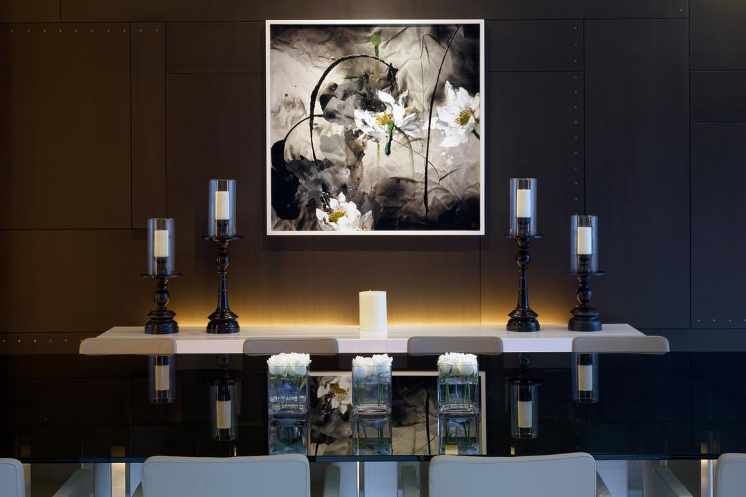 Ocean Drive 2, Greg Shand Architects, Modern, Landed, Portrait, Candle Holders, Shelf, Dining Table, White Candle, Collage, Poster, Furniture, Table
