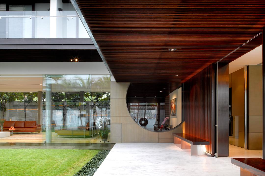 Ocean Drive 2, Greg Shand Architects, Modern, Landed, Wooden Ceiling, Grass Patch, Wooden Wall, Flora, Jar, Plant, Potted Plant, Pottery, Vase
