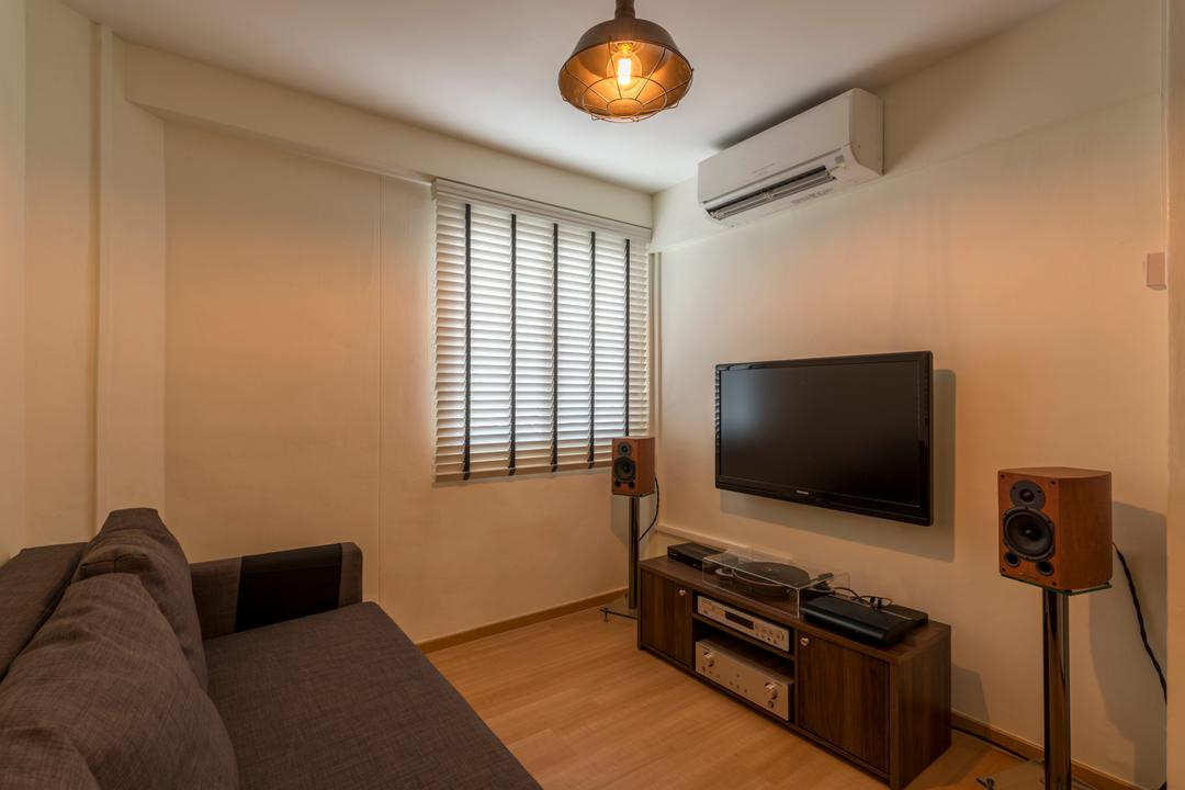 Woodlands Drive 16, The Two Big Guys, Scandinavian, Bedroom, HDB, Couch, Furniture, Electronics, Stereo, Entertainment Center, Loudspeaker, Speaker, Indoors, Room