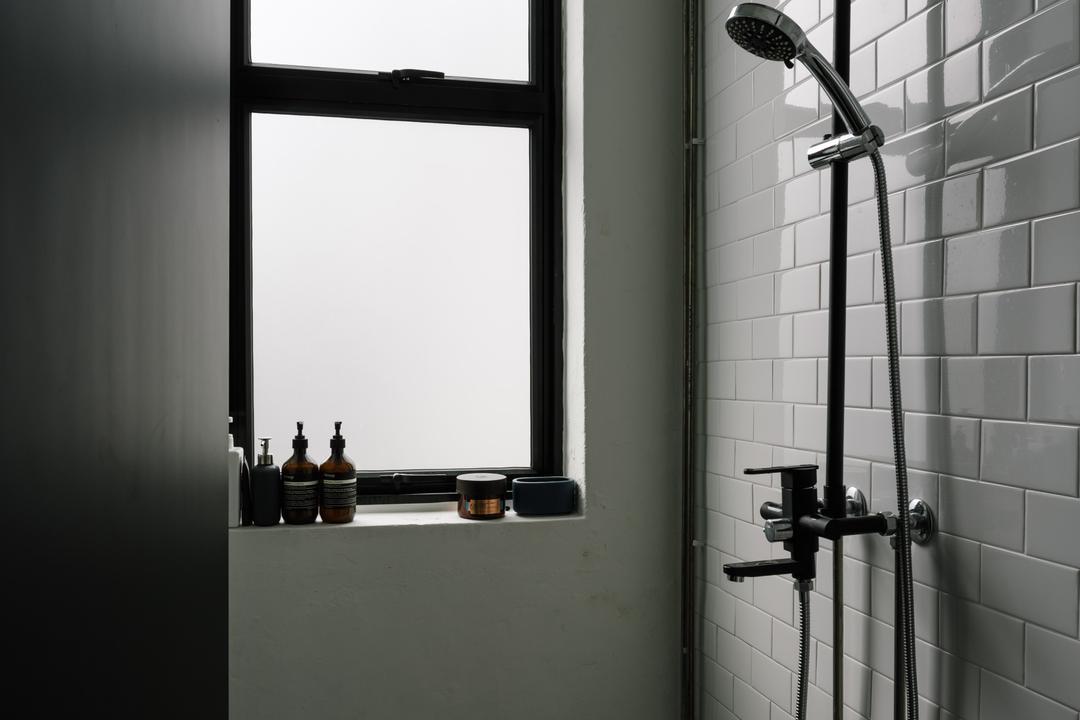 Lim Tua Tow, The Local INN.terior 新家室, Industrial, Commercial, Ceramic Tiles, Ceramic Floor, Ceramic Walls, Shower, Wooden Door