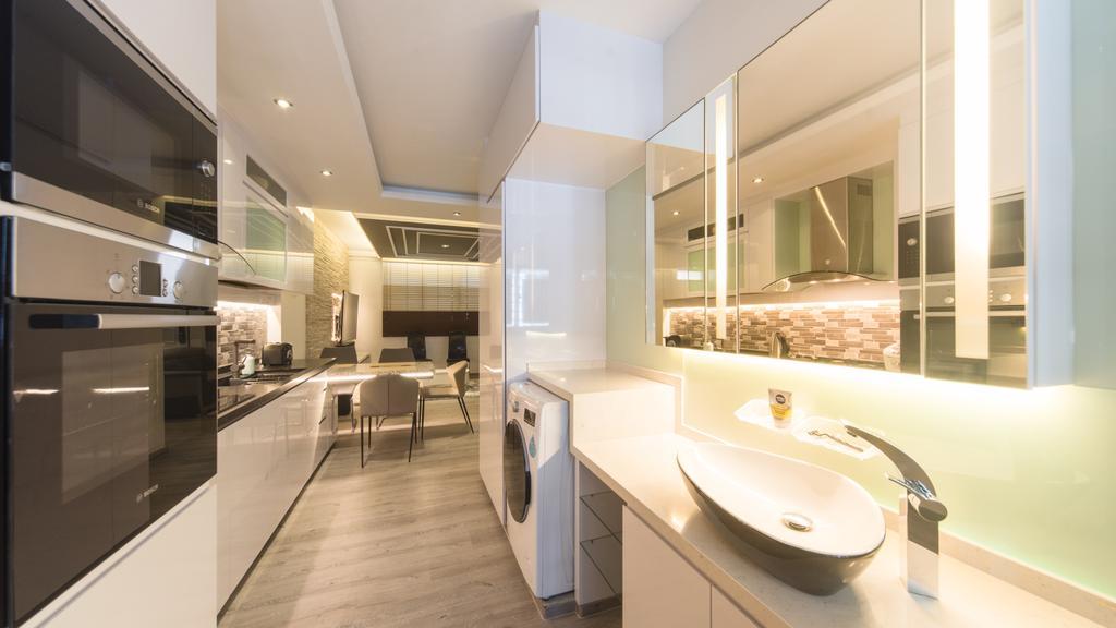 Modern, HDB, Kitchen, Serangoon Central, Interior Designer, D Initial Concept, Indoors, Interior Design
