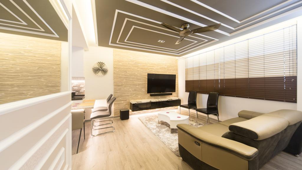 Modern, HDB, Living Room, Serangoon Central, Interior Designer, D Initial Concept, Indoors, Interior Design