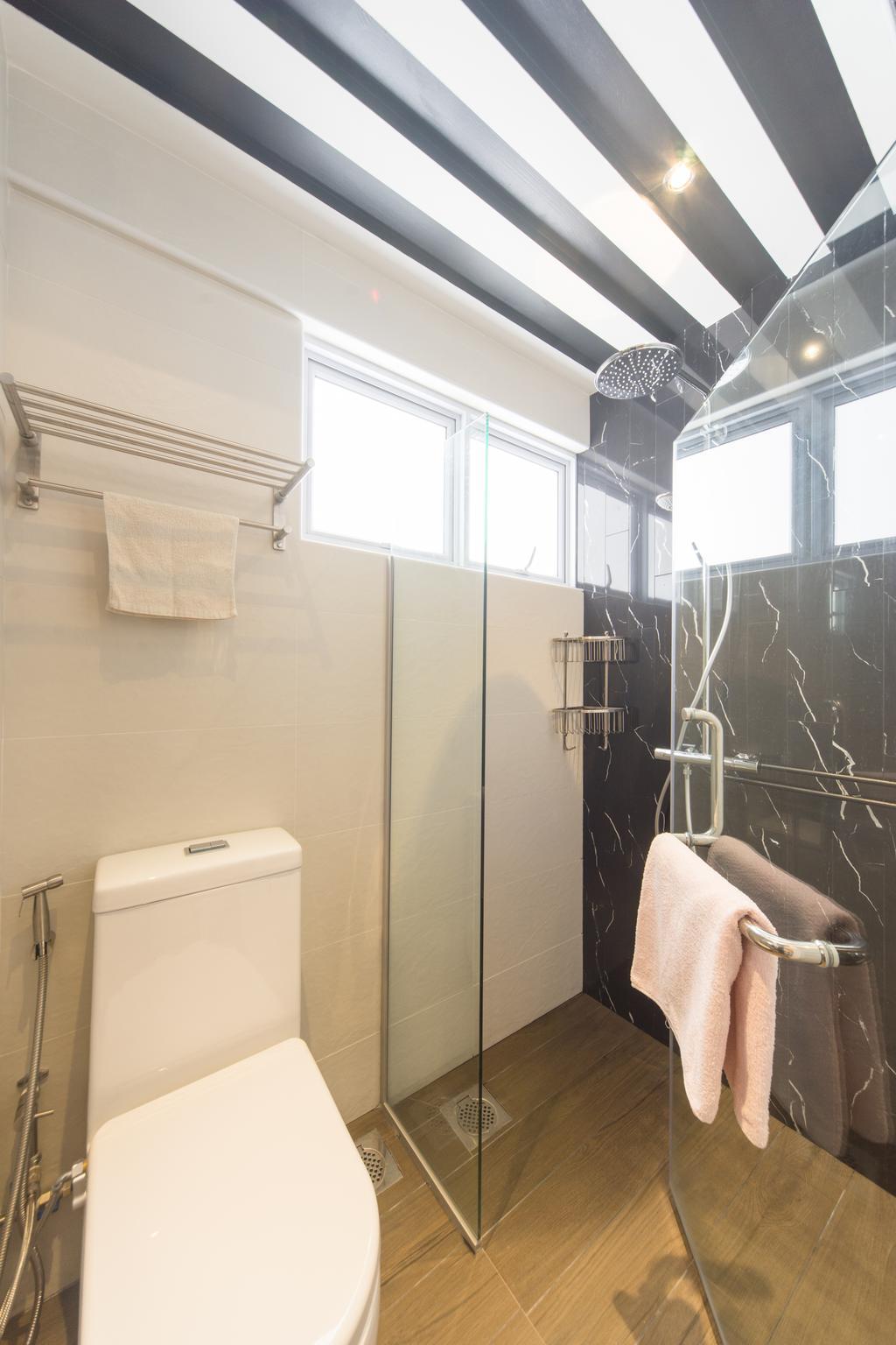 Modern, HDB, Bathroom, Serangoon Central, Interior Designer, D Initial Concept, Molding