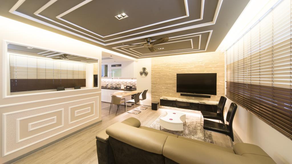 Modern, HDB, Living Room, Serangoon Central, Interior Designer, D Initial Concept, Chair, Furniture, Indoors, Interior Design