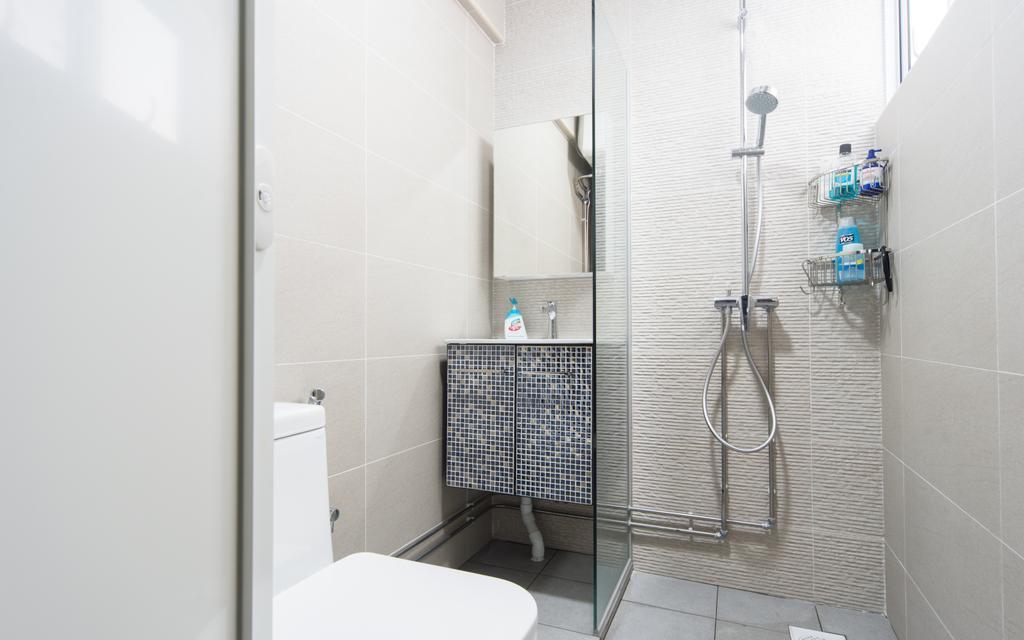 Modern, HDB, Bathroom, Serangoon Central, Interior Designer, D Initial Concept, Indoors, Interior Design, Room