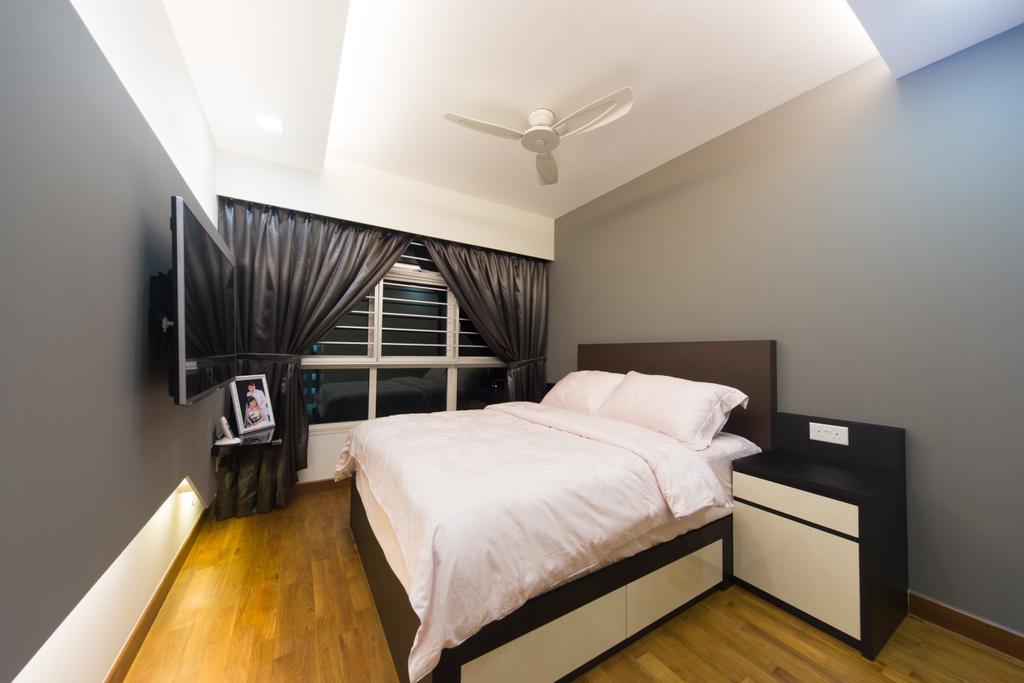 Modern, HDB, Bedroom, Yung Kuang, Interior Designer, D Initial Concept, Indoors, Interior Design, Room, Bed, Furniture