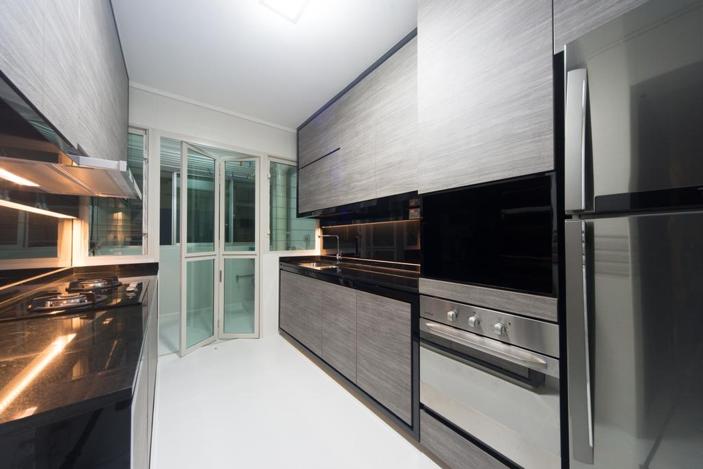 Modern, HDB, Kitchen, Yung Kuang, Interior Designer, D Initial Concept