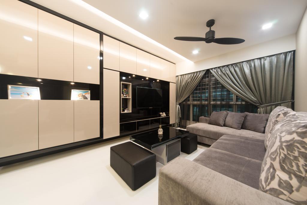 Modern, HDB, Living Room, Yung Kuang, Interior Designer, D Initial Concept, Indoors, Interior Design, Room