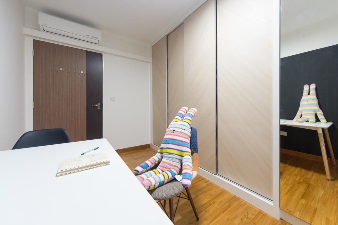 Sengkang East, D Initial Concept, Modern, Minimalist, Study, HDB, Flooring, Clothing, Footwear, Shoe, Sock, Indoors, Interior Design