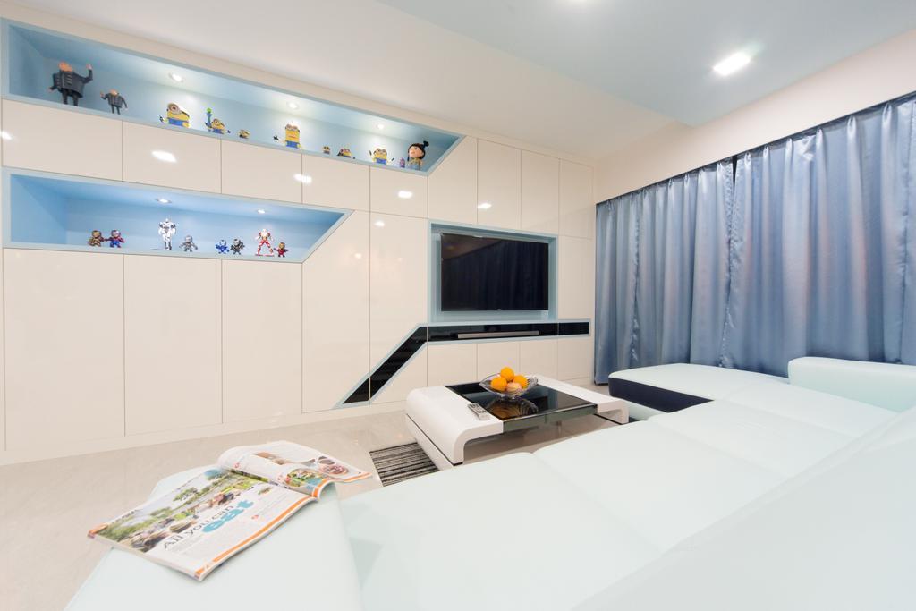 Minimalist, HDB, Living Room, Segar, Interior Designer, D Initial Concept, Indoors, Interior Design, Paper