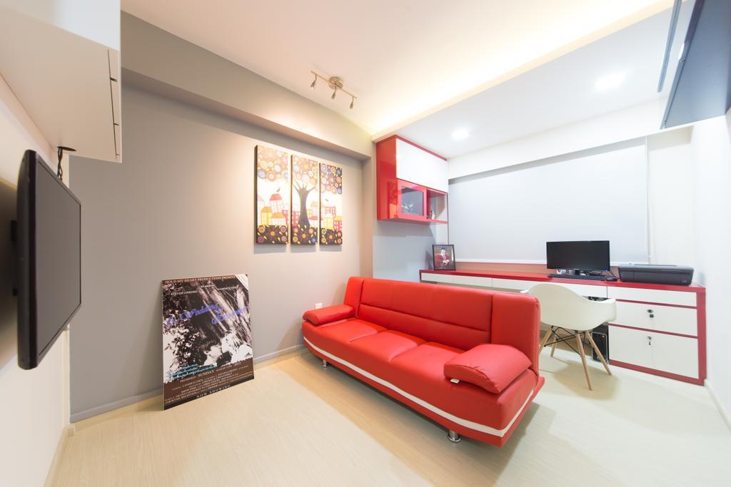 Minimalistic, HDB, Living Room, Segar, Interior Designer, D Initial Concept, Couch, Furniture, Indoors, Interior Design