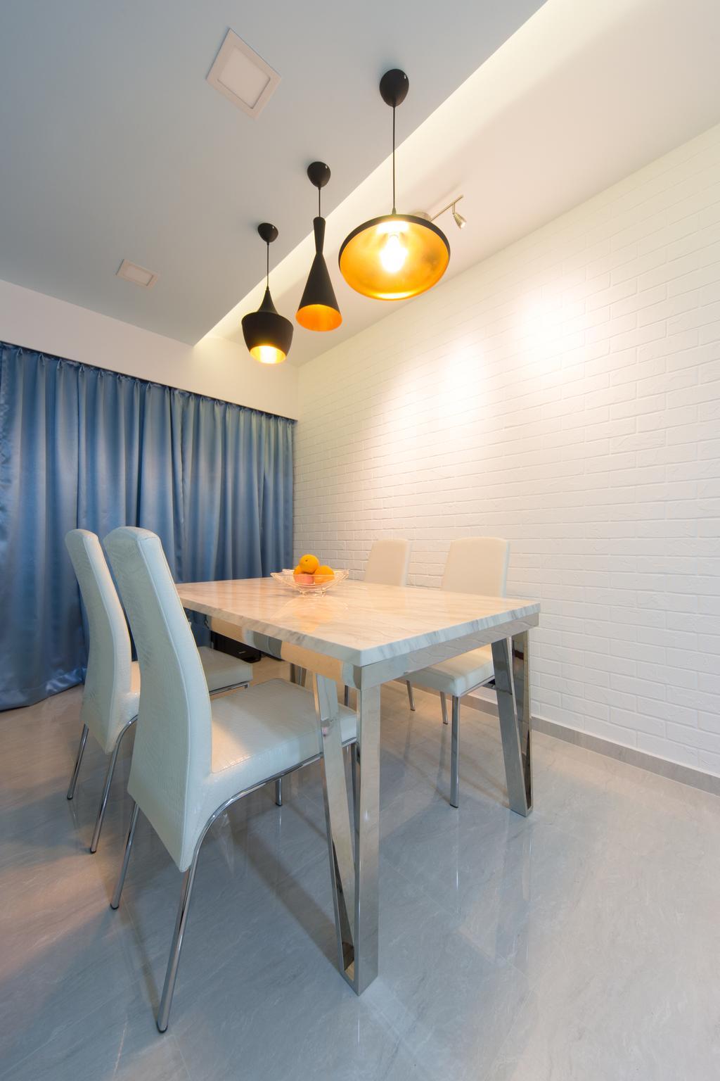 Minimalistic, HDB, Dining Room, Segar, Interior Designer, D Initial Concept, Dining Table, Furniture, Table, Indoors, Interior Design, Room, Chair
