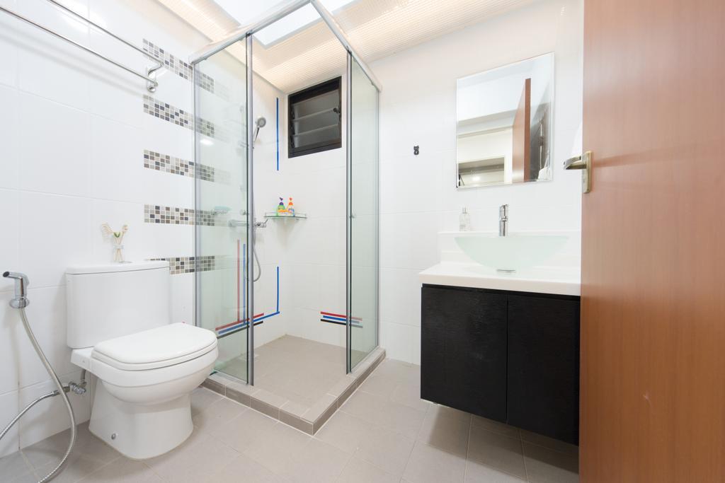 Minimalistic, HDB, Segar, Interior Designer, D Initial Concept, Toilet, Bathroom, Indoors, Interior Design, Room, Shelf
