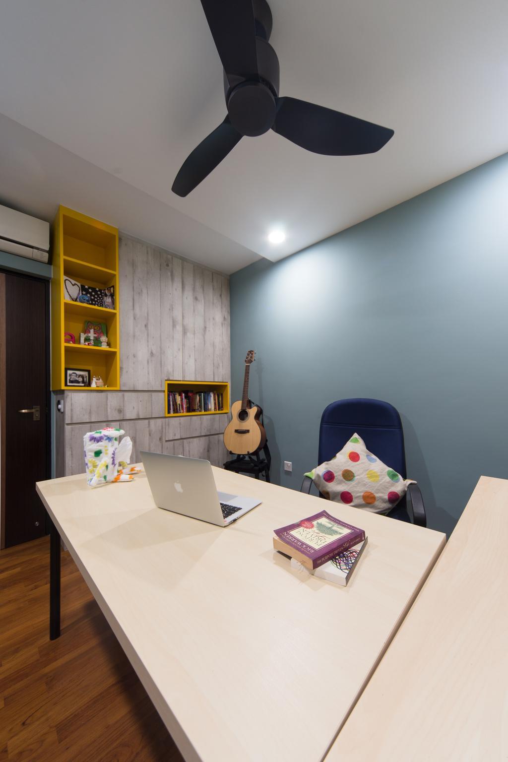 Industrial, HDB, Study, Segar Road, Interior Designer, D Initial Concept, Sink, Paper, Building, Housing, Indoors, Guitar, Leisure Activities, Music, Musical Instrument