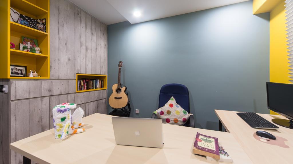 Industrial, HDB, Study, Segar Road, Interior Designer, D Initial Concept, Paper