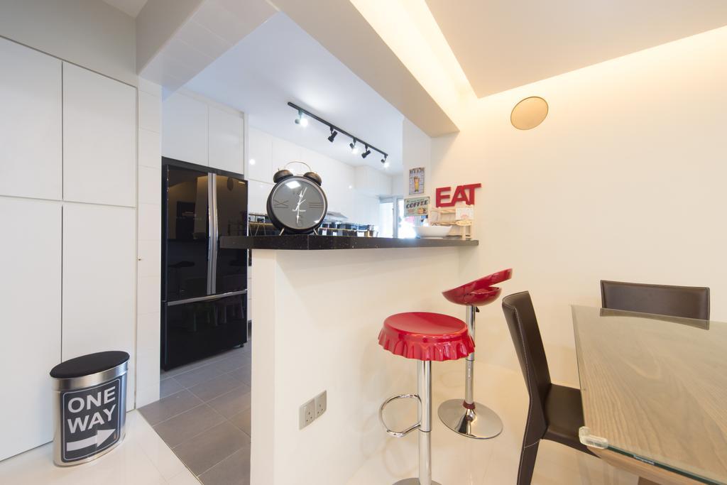 Modern, HDB, Dining Room, Punggol Walk, Interior Designer, D Initial Concept, Bar Stool, Furniture, Indoors, Interior Design, Room