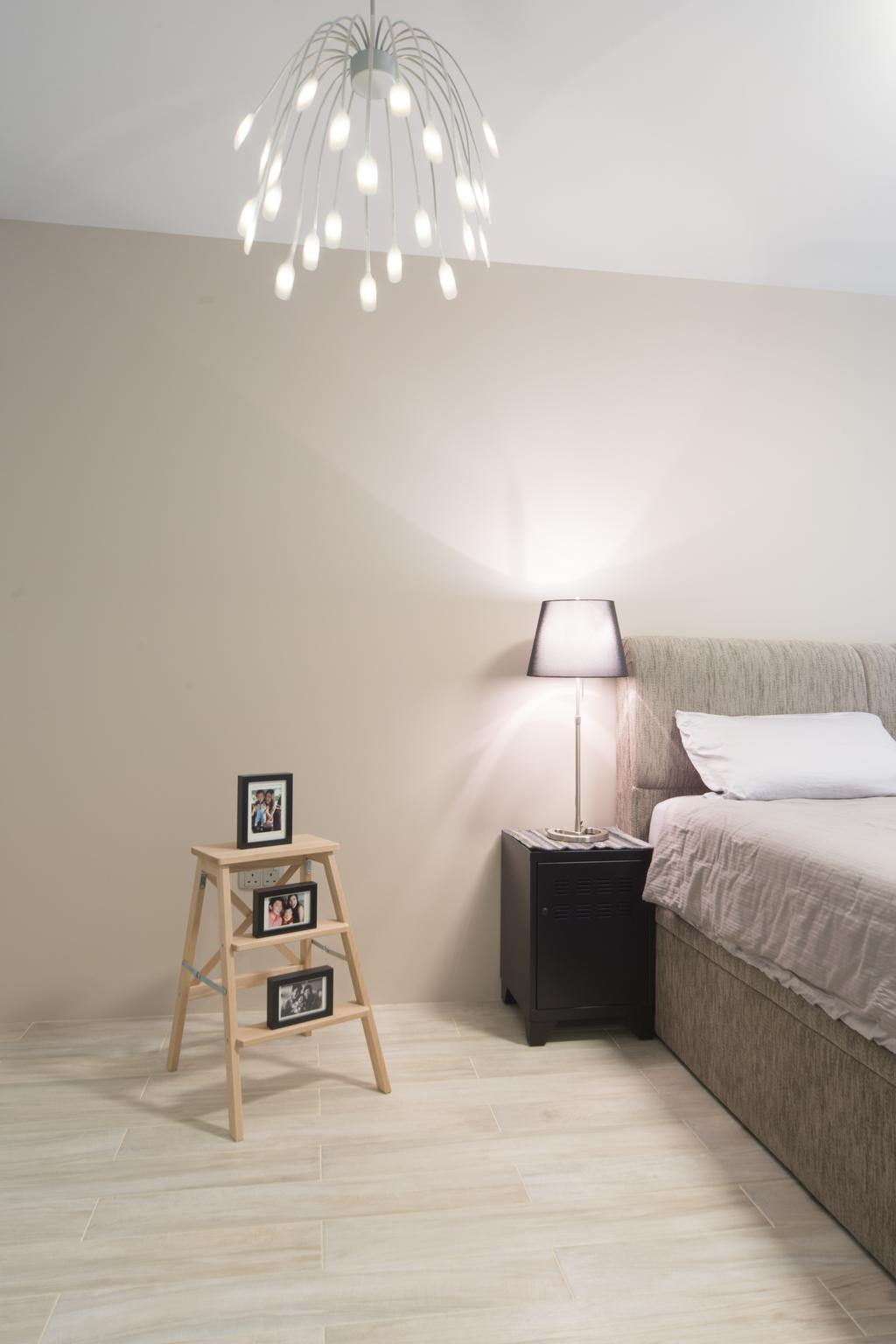 Modern, HDB, Bedroom, Punggol Walk, Interior Designer, D Initial Concept, Shelf, Indoors, Interior Design, Room