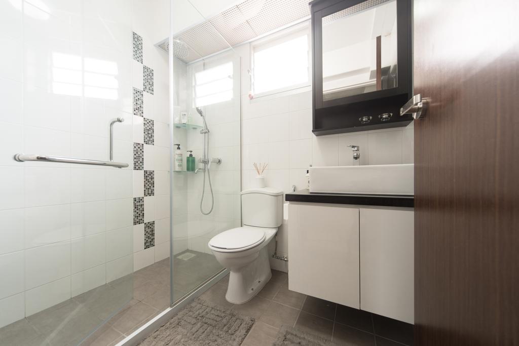 Modern, HDB, Bathroom, Punggol Walk, Interior Designer, D Initial Concept, Toilet, Indoors, Interior Design, Room