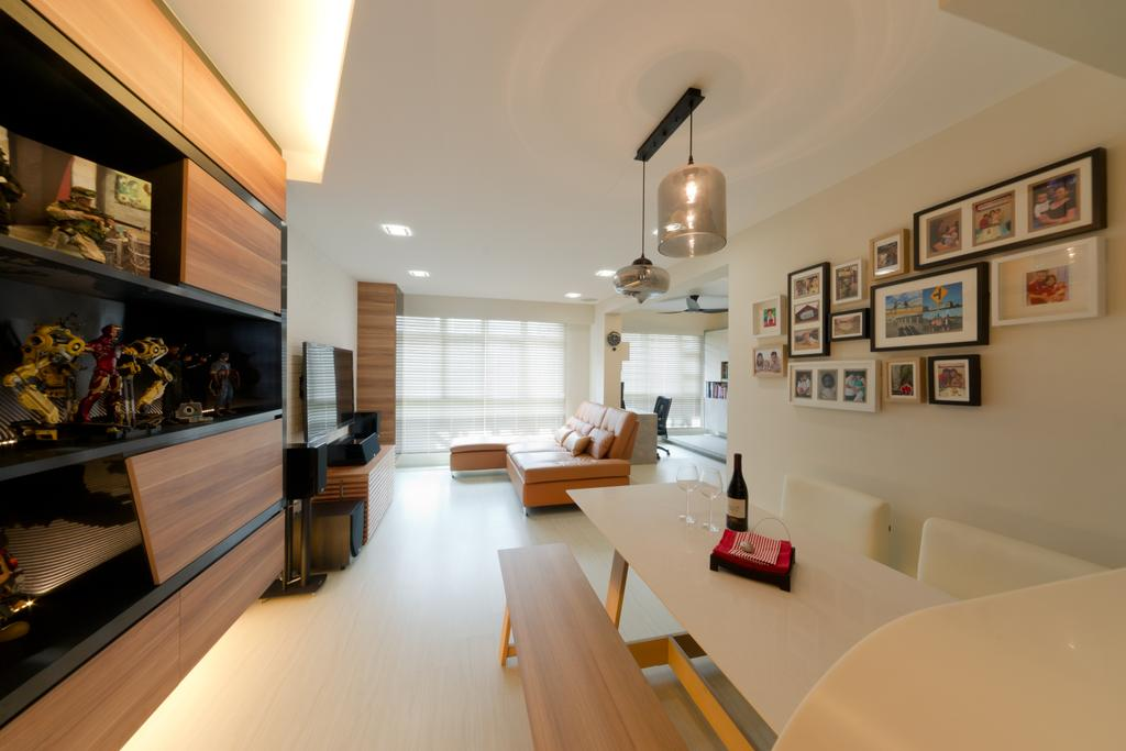 Contemporary, HDB, Dining Room, Punggol Drive, Interior Designer, D Initial Concept, Indoors, Interior Design, Room, Dining Table, Furniture, Table