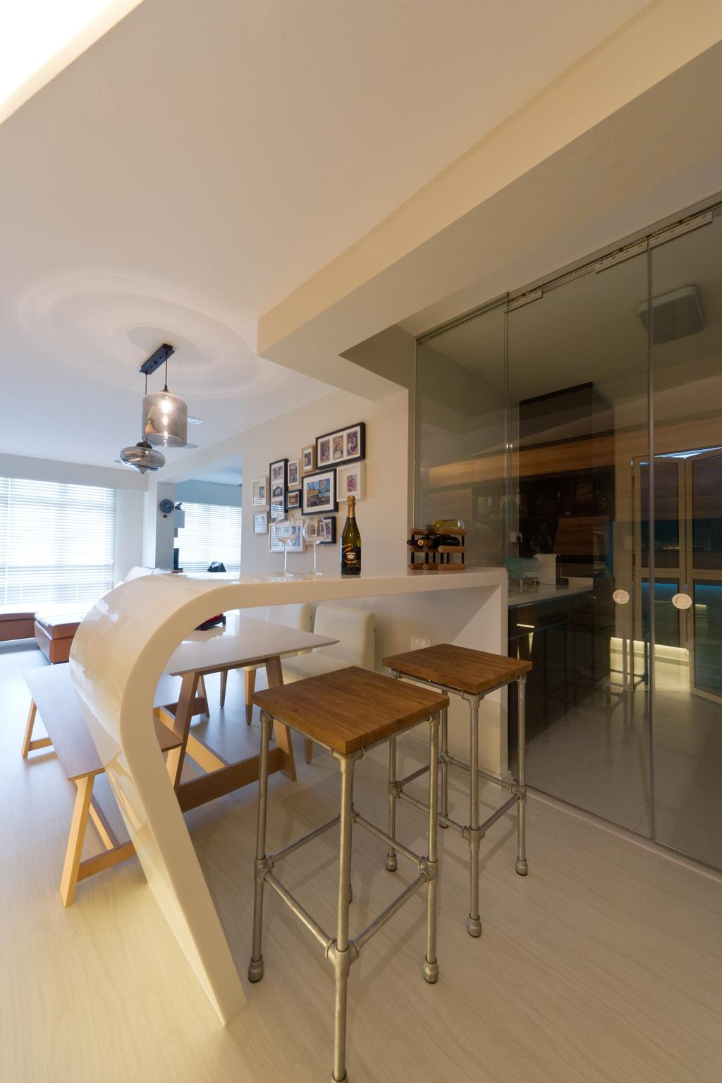 Contemporary, HDB, Dining Room, Punggol Drive, Interior Designer, D Initial Concept, Indoors, Interior Design, Room, Dining Table, Furniture, Table, Chair, Plywood, Wood