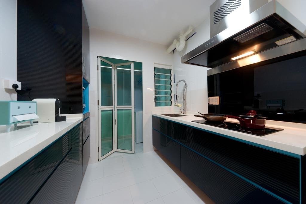 Contemporary, HDB, Kitchen, Punggol Drive, Interior Designer, D Initial Concept, Bathroom, Indoors, Interior Design, Room, Window