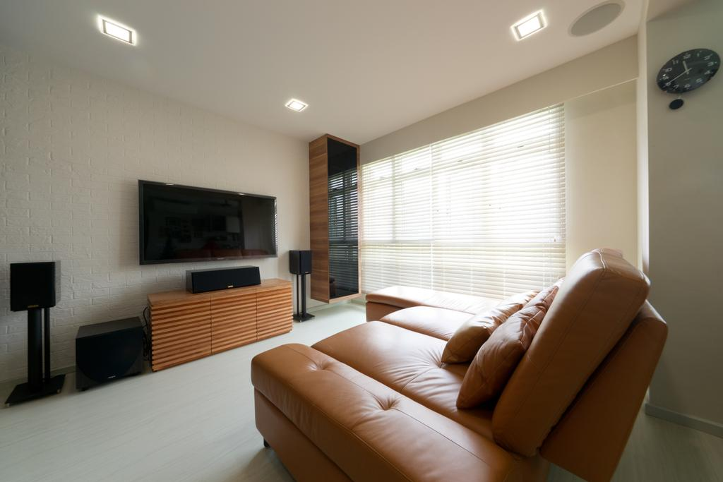 Contemporary, HDB, Living Room, Punggol Drive, Interior Designer, D Initial Concept, Couch, Furniture
