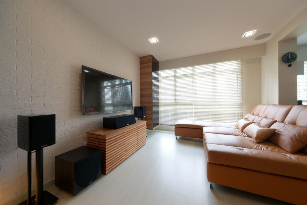 Contemporary, HDB, Living Room, Punggol Drive, Interior Designer, D Initial Concept, Couch, Furniture, Indoors, Room