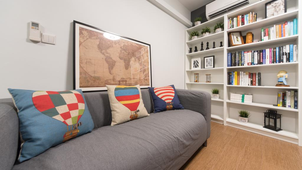 Modern, HDB, Anchorvale Street, Interior Designer, D Initial Concept, Contemporary, Couch, Furniture