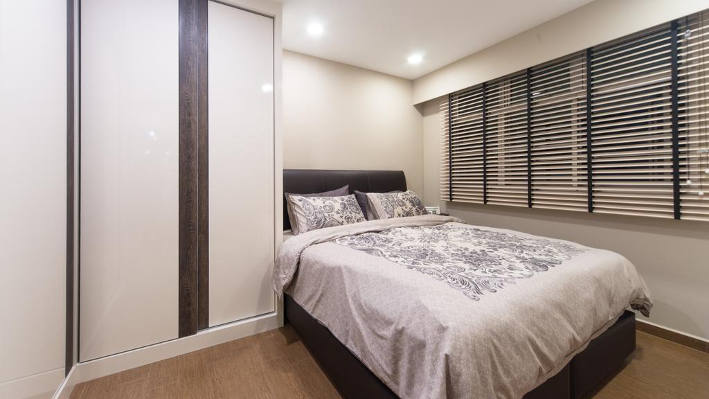 Modern, HDB, Bedroom, Anchorvale Street, Interior Designer, D Initial Concept, Contemporary, Indoors, Interior Design, Room, Bed, Furniture