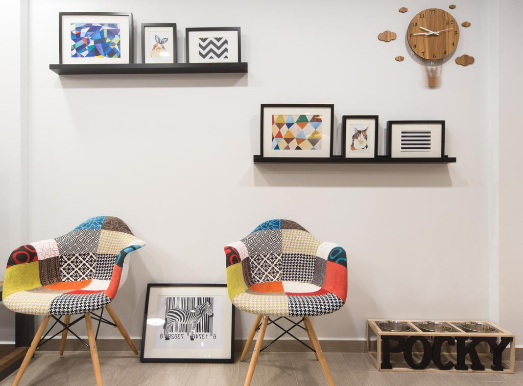 Modern, HDB, Study, Anchorvale Street, Interior Designer, D Initial Concept, Contemporary, Chair, Furniture, Art, Modern Art, Dining Room, Indoors, Interior Design, Room