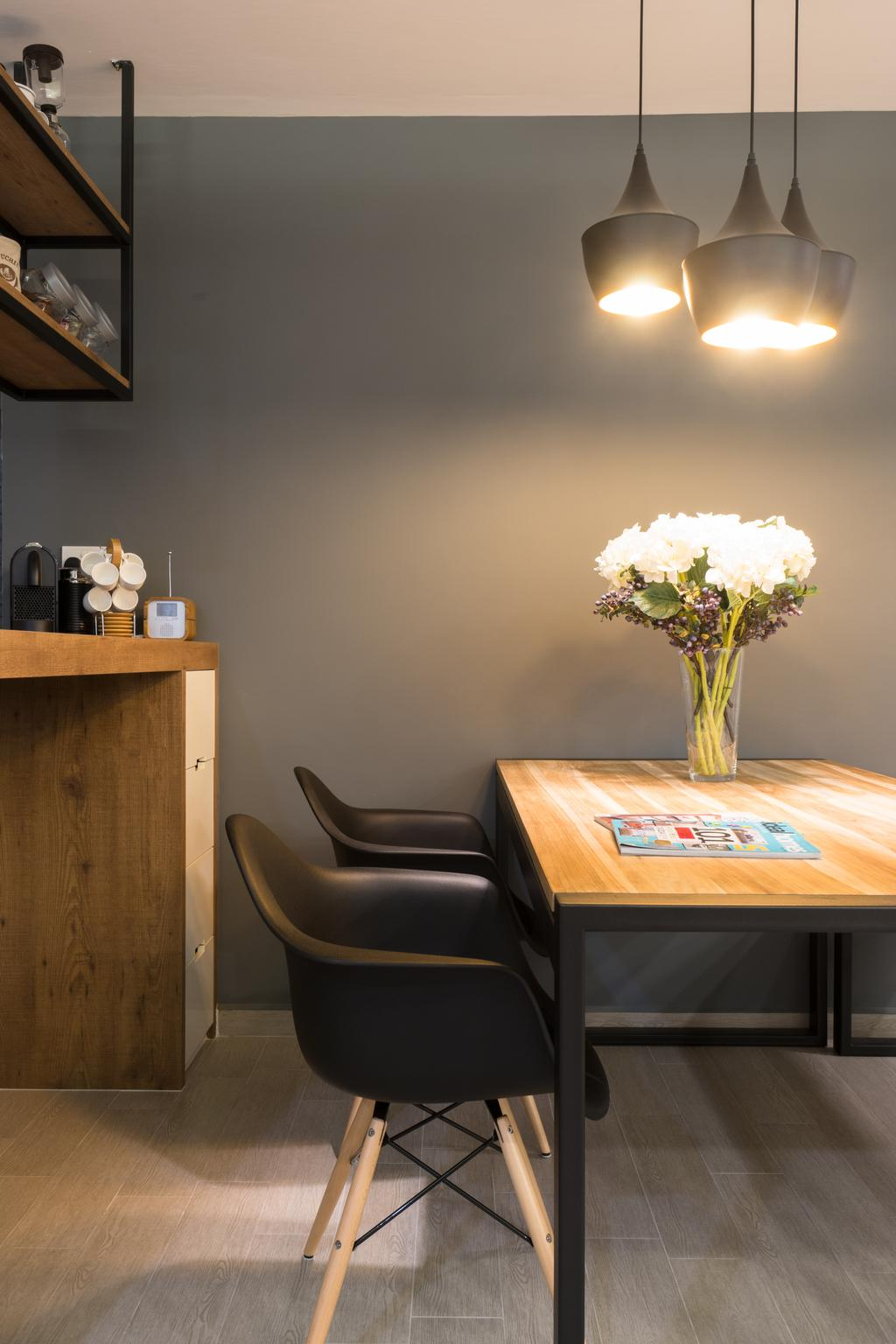 Modern, HDB, Dining Room, Anchorvale Street, Interior Designer, D Initial Concept, Contemporary, Chair, Furniture, Sink