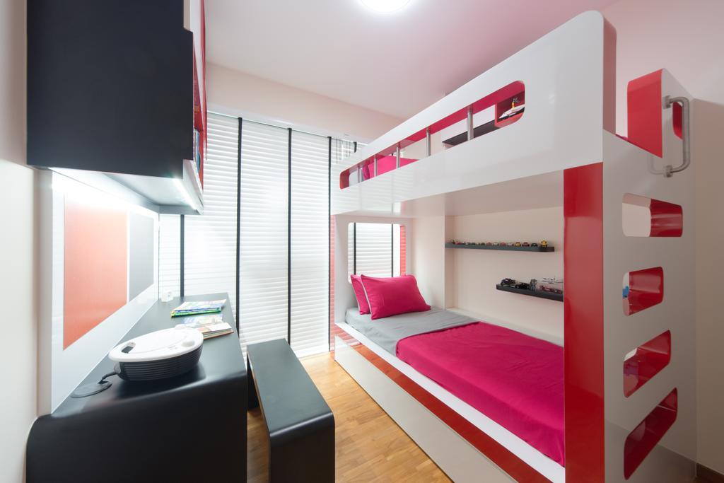 Modern, Condo, Bedroom, Esparina, Interior Designer, D Initial Concept, Bathroom, Indoors, Interior Design, Room, Bed, Furniture