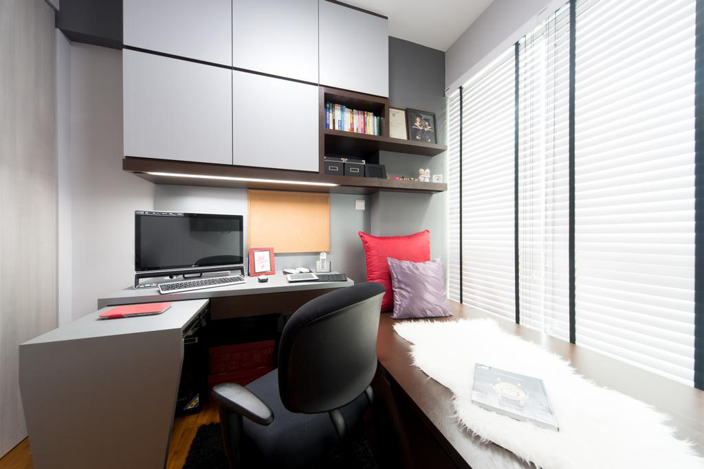 Modern, Condo, Study, Esparina, Interior Designer, D Initial Concept, Chair, Furniture