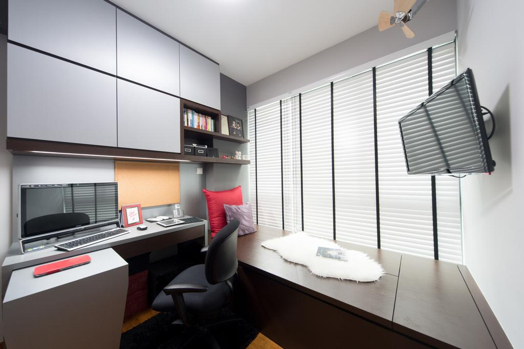 Modern, Condo, Study, Esparina, Interior Designer, D Initial Concept, Chair, Furniture, HDB, Building, Housing, Indoors, Loft, Room