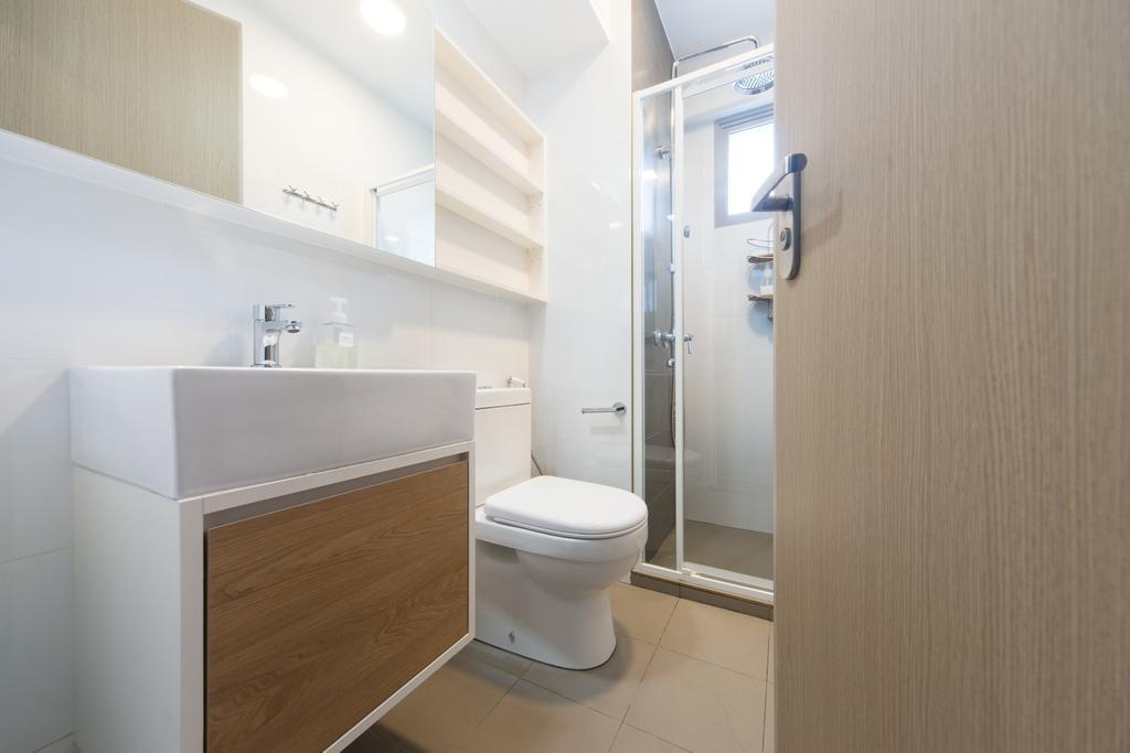 Minimalistic, Condo, Bathroom, Parkland Residences, Interior Designer, D Initial Concept, Toilet, Indoors, Interior Design, Room