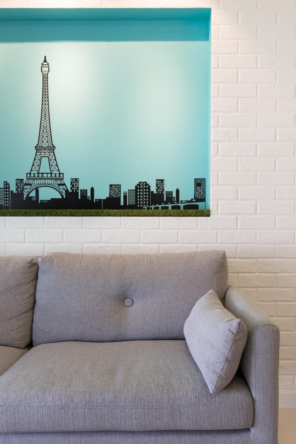Minimalistic, Condo, Parkland Residences, Interior Designer, D Initial Concept, Couch, Furniture, Home Decor, Linen, Architecture, Building, Tower