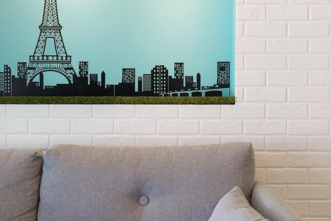 Parkland Residences, D Initial Concept, Minimalistic, Condo, Couch, Furniture, Home Decor, Linen, Architecture, Building, Tower