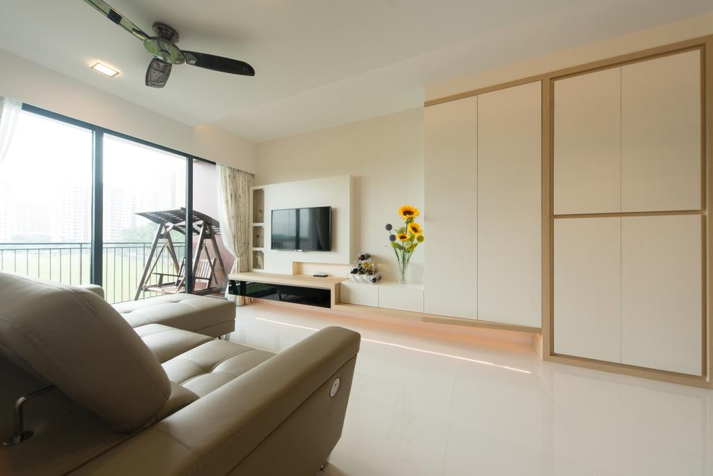 Minimalist, Condo, Living Room, RiverParc Residence, Interior Designer, D Initial Concept, Indoors, Interior Design, Couch, Furniture, Chair