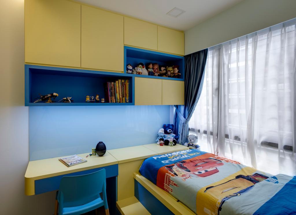 Modern, Condo, Bedroom, RiverParc Residence, Interior Designer, D Initial Concept, Bookcase, Furniture