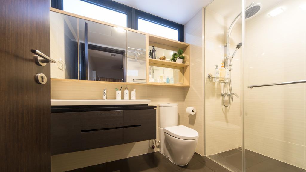 Minimalist, Condo, Bathroom, RiverParc Residence, Interior Designer, D Initial Concept, Toilet, Indoors, Interior Design, Room
