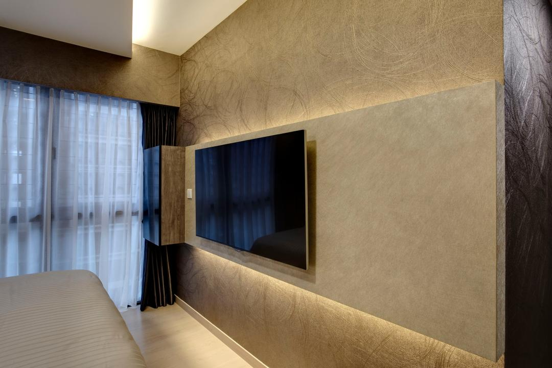 RiverParc Residence, D Initial Concept, Modern, Living Room, Condo, Machine, Ramp, Flooring