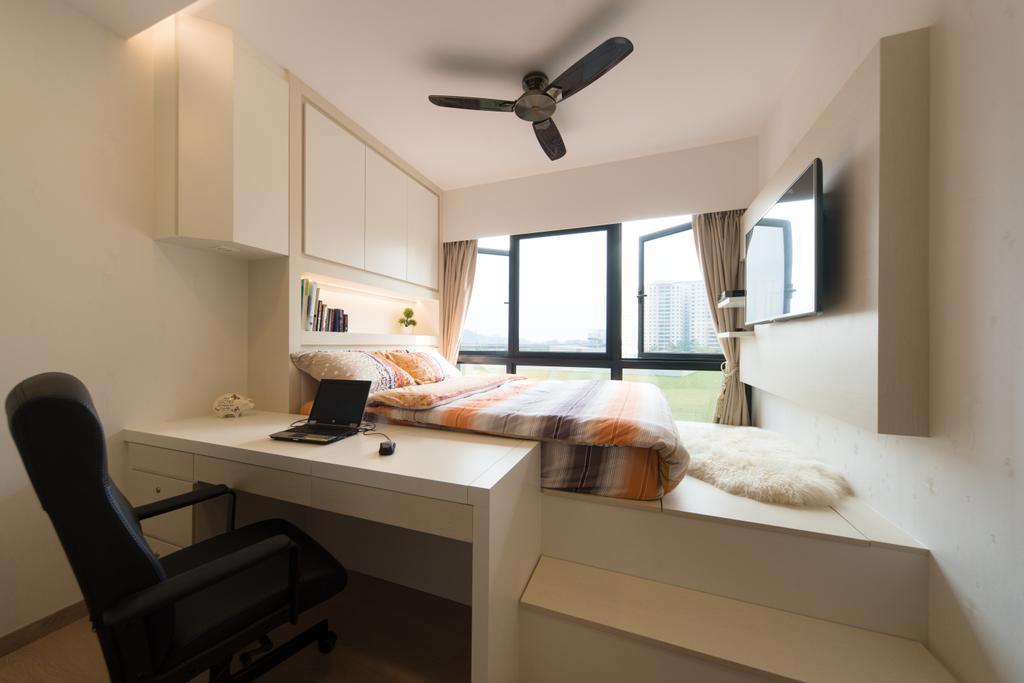 Minimalistic, Condo, Study, RiverParc Residence, Interior Designer, D Initial Concept, Chair, Furniture
