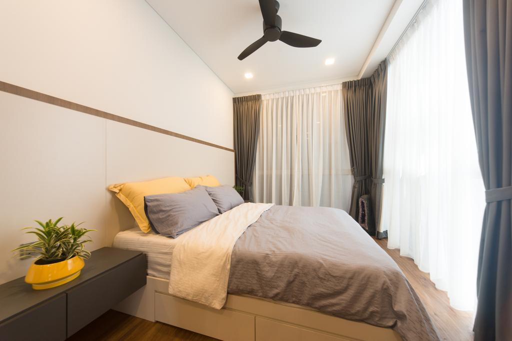 Modern, Condo, Saint Patrick Residences (Block 58), Interior Designer, D Initial Concept, Industrial, Propeller, Bedroom, Indoors, Interior Design, Room