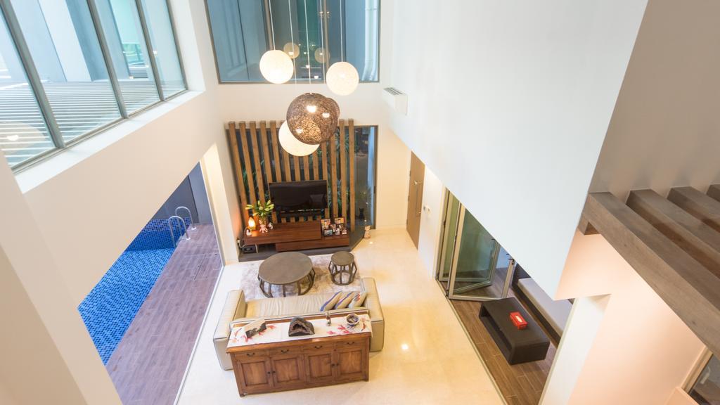 Modern, Condo, Living Room, Saint Patrick Residences (Block 58), Interior Designer, D Initial Concept, Industrial, Coffee Table, Furniture, Table, Dining Room, Indoors, Interior Design, Room