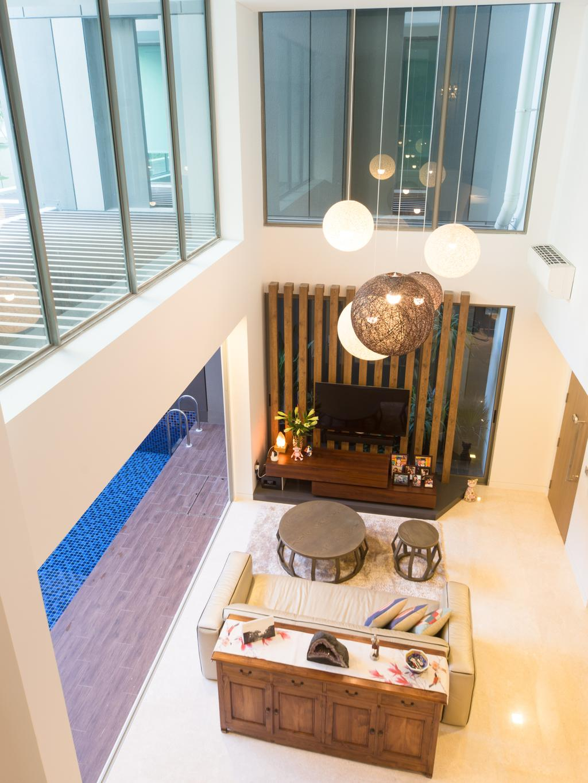 Modern, Condo, Living Room, Saint Patrick Residences (Block 58), Interior Designer, D Initial Concept, Industrial, Chandelier, Lamp, Indoors, Interior Design, Dining Room, Room, Lobby, Furniture