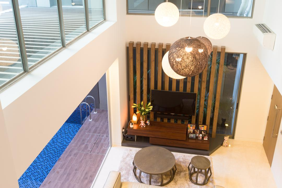 Saint Patrick Residences (Block 58), D Initial Concept, Modern, Industrial, Living Room, Condo, Chandelier, Lamp, Indoors, Interior Design, Dining Room, Room, Lobby, Furniture